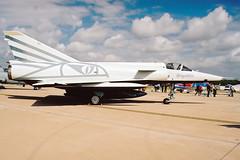 Dassault Mirage IIIRS R-2116 Fliegerstaffel 10 (Mark McEwan) Tags: dassault mirage mirageiiirs r2116 flst10 fliegerstaffel10 schweizerluftwaffe swissairforce reconnaissance recce aviation aircraft airplane riat riat2003 royalinternationalairtattoo raffairford fairford