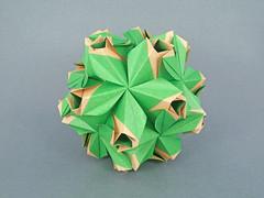 Raisa (masha_losk) Tags: kusudama кусудама origamiwork origamiart foliage origami paper paperfolding modularorigami unitorigami модульноеоригами оригами бумага folded symmetry design handmade art