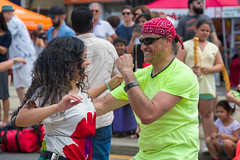 Fist Pump on St Clair (Photo Oleo) Tags: toronto festival latin street fistpump dance lessons lossalsolmanos salsaonstclair candid tdsalsaonstclair