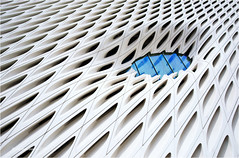 Blue Eye (Sandra Lipproß) Tags: theveilandthevault thebroad museum contemporary modern art architecture losangeles buidling white blue facade dillerscofidiorenfro lines graphic geometric pattern