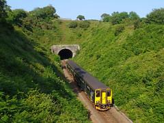150232 Sparnick Tunnel (2) (Marky7890) Tags: gwr 150232 class150 sprinter 2f87 sparnicktunnel railway cornwall train maritimeline