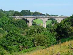 150261 Carnon Viaduct (Marky7890) Tags: gwr 150261 class150 sprinter 2f86 carnonviaduct railway perranwell viaduct cornwall train maritimeline