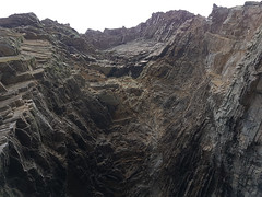 Faulted coastline north of Latheronwheel. (Shandchem) Tags: sea kayaking latheronwheel caithness fault