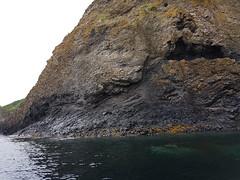 Faulted coastline north of Latheronwheel. (Shandchem) Tags: sea kayaking latheronwheel caithness hydrothermal activity fault