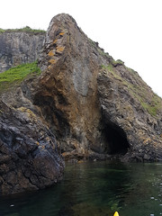 Cave in faulted coastline north of Latheronwheel. (Shandchem) Tags: sea kayaking latheronwheel caithness fault breccia