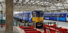 Abellio Scotrail Class 314 314203 at Glasgow Central Platform 3 having arrived in as service 5N18 (07-07-19) (Rikki Cameron) Tags: trains abellio scotrail class314 pep 314203 emptycoachingstock brel