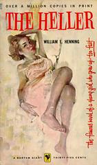 Bantam Books A1708 - William E. Henning - The Heller (swallace99) Tags: bantam vintage 50s bestseller paperback stanleyzuckerberg