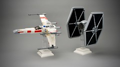 X-Wing & TIE Fighter Midi-scale (Pasq67) Tags: lego pasq67 afol toy toys flickr legography france moc starwars star wars fighter midiscale starfighter 2019 sienarfleetsystems tie series tiefighter xwing t65 xwingfighter