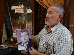 Met this man in Tyr. He started to speak about his father that had past away long time ago, then he showed us his picture.