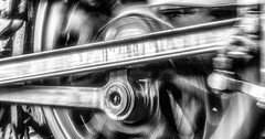 In a Spin - Version 2 (photofitzp) Tags: bw bwsteam blackandwhite railways svr tle tawvalley