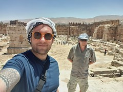 Happy to be at this incredible UNESCO site at Baalbek.