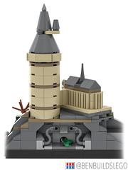 Lego Harry Potter - Hogwarts Skyline MOC (Rear) (BenBuildsLego) Tags: harry potter lego legos bricklink studio 3d render cool geek geeky nerd book books hogwarts hermione granger ron weasley emma watson train quidditch architecture art skyline brick bricks benbuildslego dumbledore castle school wizard wizards