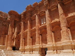 Beautiful colour to the structure at Baalbek.