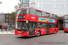 IMG_2577-060719 (andrewcolebourne) Tags: london londonbus transportforlondon metroline londonbridge byd alexander dennis enviro400ev hollowaygarage ht route43 bde2618 lj19cug city