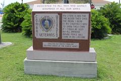 Wounded Combat Veterans memorial, Patriots Point (MJRGoblin) Tags: mountpleasant southcarolina 2019 charlestoncounty patriotspointnavalmaritimemuseum