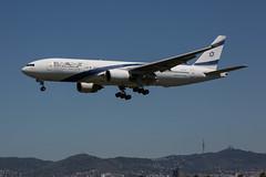 4X-ECD (lutza) Tags: 4xecd aircraft b777 b777258er bcnbarcelona boeing elal sn405