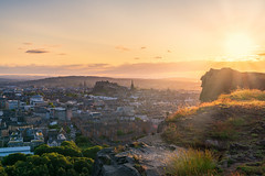 Golden Hour over Edinburgh (MilesGrayPhotography (AnimalsBeforeHumans)) Tags: nd formatthitech architecture fe24105mmf4goss sonyfe24105mmf4goss auldreekie britain castle castlerock edinburgh edinburghcastle crags salisburycrags city cityscape dusk europe evening glow goldenhour historic historicscotland iconic kingdomoffife landscape lens landscapephotography outdoors old oldtown photography rocks scotland scenic skyline sunset sony sunlight scottish sunshine scottishlandscapephotography summer sunburst sonya7rii a7rii ilce7rm2 sonyilce7rm2 shadows town twilight uk unitedkingdom unesco glens