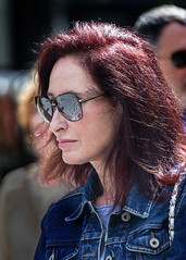 Portrait (D80_538020) (Itzick) Tags: denmark copenhagen candid color colorportrait redhead redhair streetphotography shades woman face facialexpression portrait d800 itzick