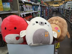 Cuties in the Supermarket ❤️🌸💕🐰🐶🐥🍓 (Jeanne1931) Tags: cute pillows plushies stuffedanimals