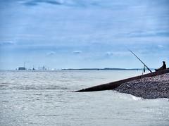 Sunday morning relaxation (Nevrimski) Tags: fishing hinkley point minehead sea