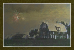 July 4th Backyard Celebrations    ....HSS! (jackalope22) Tags: hss fireworks fourth barn art painting