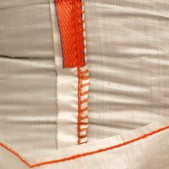 load-bearing seams (vertblu) Tags: bigbag bigsack white orange seams minimal minimalism minimalist weave raindrops minimalismus creases wrinkles texture textur textures texturesquared bsquare 500x500 kwadrat abstractfeel almostabstract abstractstyle vertblu