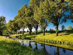 City channels (Bonsailara1) Tags: bonsailara1 hoofdorp holanda netherlands canal channel arboles trees perspective perspectiva sol soleado sunny sun bluesky cieloazul