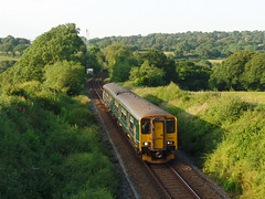 150261 Trewenda Lane, Perranwell (Marky7890) Tags: gwr 150261 class150 sprinter 2f90 trewendalane perranwell railway train maritimeline