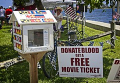 Lake Worth Little Free Library (LarryJay99 ) Tags: blood flags fourthofjuly july4th2019 lakeworth littlefreelibrary watersedge flickr onflickr delraybeach florida