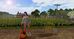 Music and Sunshine (isabelverlack) Tags: countryside guitar summer secondlife barn plants nature