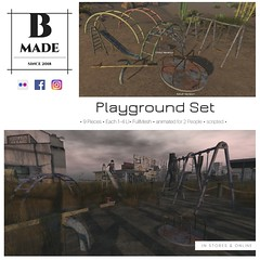 B-Made Playground Set (Ben Lev) Tags: board deals design discount dress endofseasonsale fashion fiftypercent graphic highstreet hotprice illustrated illustration instagramtemplate internet isolated layout marketing media message minimal mockup offer onlineshopping printed promotion psd sale set shop shopping socialmedia socialnetwork specialoffer style stylish template trendy website second life mesh release