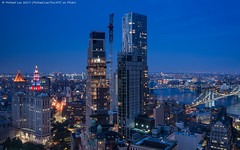 Lower Manhattan Twilight (20190704-DSC01076) (Michael.Lee.Pics.NYC) Tags: newyork aerial hotelview millenniumhilton night twilight dusk bluehour municipalbuilding thurgoodmarshallfederalcourthouse cityhall architecture cityscape sony a7rm2 zeissloxia21mmf28 july4 independenceday eastriver twobridges brooklynbridge manhattanbridge brooklyn parkrow construction