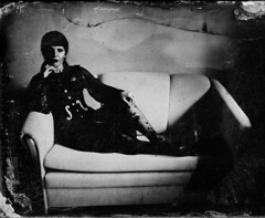 Dark thought (Sonofsono) Tags: wet plate largeformat fkd black bw white model ambrotype glass 13x18