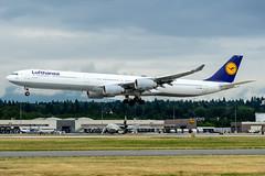 CYVR - Lufthansa A340-600 D-AIHX (CKwok Photography) Tags: yvr cyvr lufthansa a340 daihx