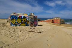 Cap-Breton (pictopix) Tags: capbreton basque littoral mer paysbasque blockhaus tag art béton plage sable couleurs