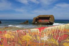 Cap-Breton (pictopix) Tags: capbreton basque littoral mer paysbasque couleurs sable plage béton art tag blockhaus cap breton