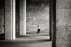 Langermarck Halle at the Olympic stadium. (jonbawden50) Tags: berlin olympic stadium 1936 langermarck halle concrete pillars space mono monochrome bnw blackandwhite bw history