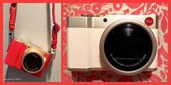 This is what happens.... (Little Hand Images) Tags: leica clux camera gold reddot redleatherprotector precisionlens wishlist birthday diptych