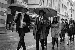 Weatherproof (Silver Machine) Tags: london streetphotography street candid businessmen rain umbrella men people groupofpeople outdoor walking glasses fujifilm fujifilmxt3 fujinonxf35mmf2rwr