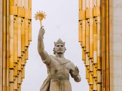 Ismail Somoni statue, Tajikistan