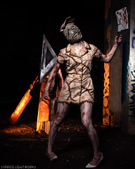 Silent Hill (S1Price Lightworks) Tags: silent hill nurse pyramidhead cosplay cosplayers cosplaying horror shoot photoshoot creepy terror canon eos r 35mm rf gel lighting godox cleaver spooky halloween costume costumes frightening girls girl deadly video game movie