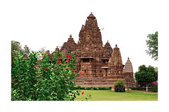 A Little Story About This Famous Place (The Spirit of the World ( On and Off)) Tags: khajuraho unescoworldheritagesite park temple landscape green bushes lawn famous erotictemples india rajasthan peaceful refined story