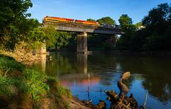 Way Down Yonder on the Chattahoochee (Kyle Yunker) Tags: kcs kansas city southern railroad norfolk ns et44ac tier 4 gevo bridge chattahoochee river belle