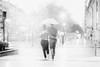 Coup de foudre (michelgroleau) Tags: orage pluie rain storm sansebastian parapluie umbrella nb noiretblanc bw blackandwhite love amour amor fog brouillard