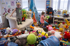 Ash Made A Mess (evaxebra) Tags: charles chance jenny skyler visit mess ash playroom messy stuffies stuffed animals