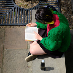 Katie reading (paul indigo) Tags: paulindigo book colour fashion hair hands individual lady leisure people portrait reading relax sitting streetphotography style summer travel