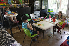 At The Kids Table (evaxebra) Tags: charles chance jenny skyler visit eating lunch tables kids kid
