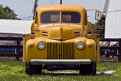 Ready to roll (jkotrub) Tags: yellow goldenrod golden truck shell ford built tough work hard fuel farm daylight outside outdoors green hills rolling dirt summer shine transportation tanker rig machine drive diesel gas petrol people