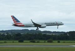 N190AA (Gary Kenney Aviation) Tags: boeing 757 america american airlines aircraft airplane edinburgh airport landing