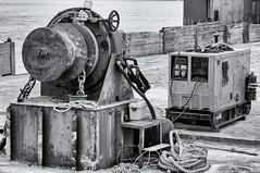 2019-07-07 Culbertson Barge Buff Orpington (B&W) (2048x1360) (-jon) Tags: anacortes fidalgoisland sanjuanislands skagitcounty skagit washingtonstate washington salishsea guemeschannel portofanacortes curtiswharf barge vessel pacificnorthwest pnw pacificocean pacific ocean bufforpington culbertson bw blackandwhite anchor winch a266122photographyproduction canonpowershotelph180